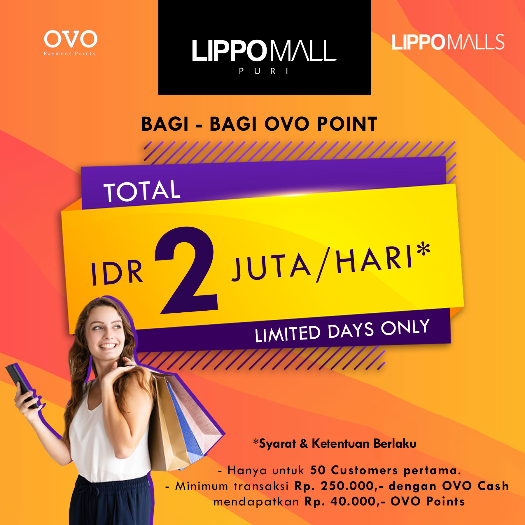 Get OVO Point in lippo mall puri st. moritz