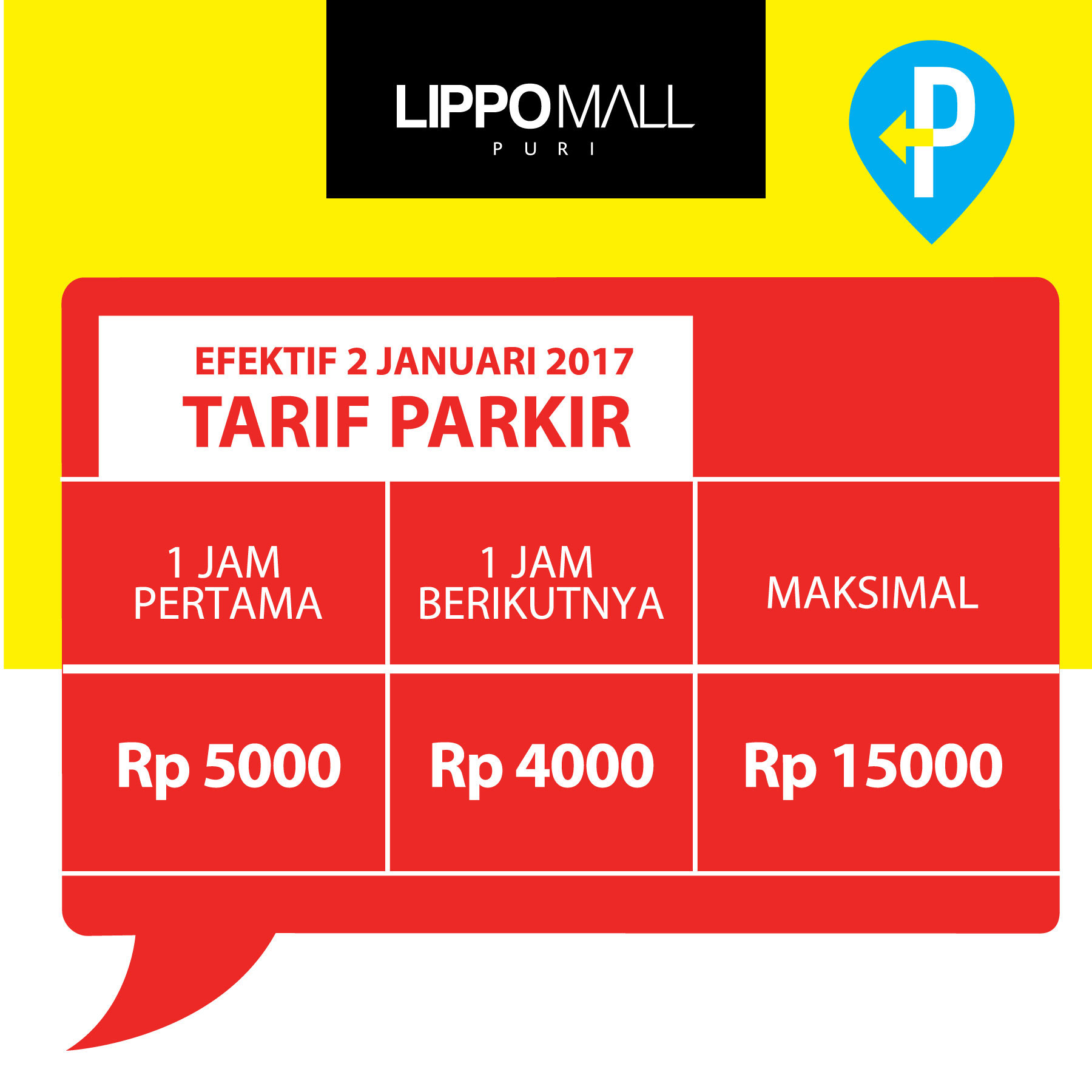 parking payment station in lippo mall puri st. moritz