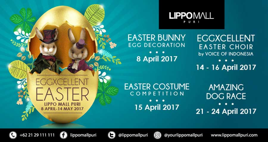 eggxcellent easter event in lippo mall puri st. moritz