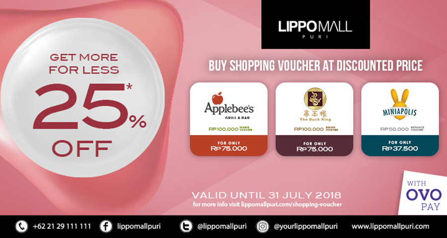 shopping voucher promo in lippo mall puri st. moritz