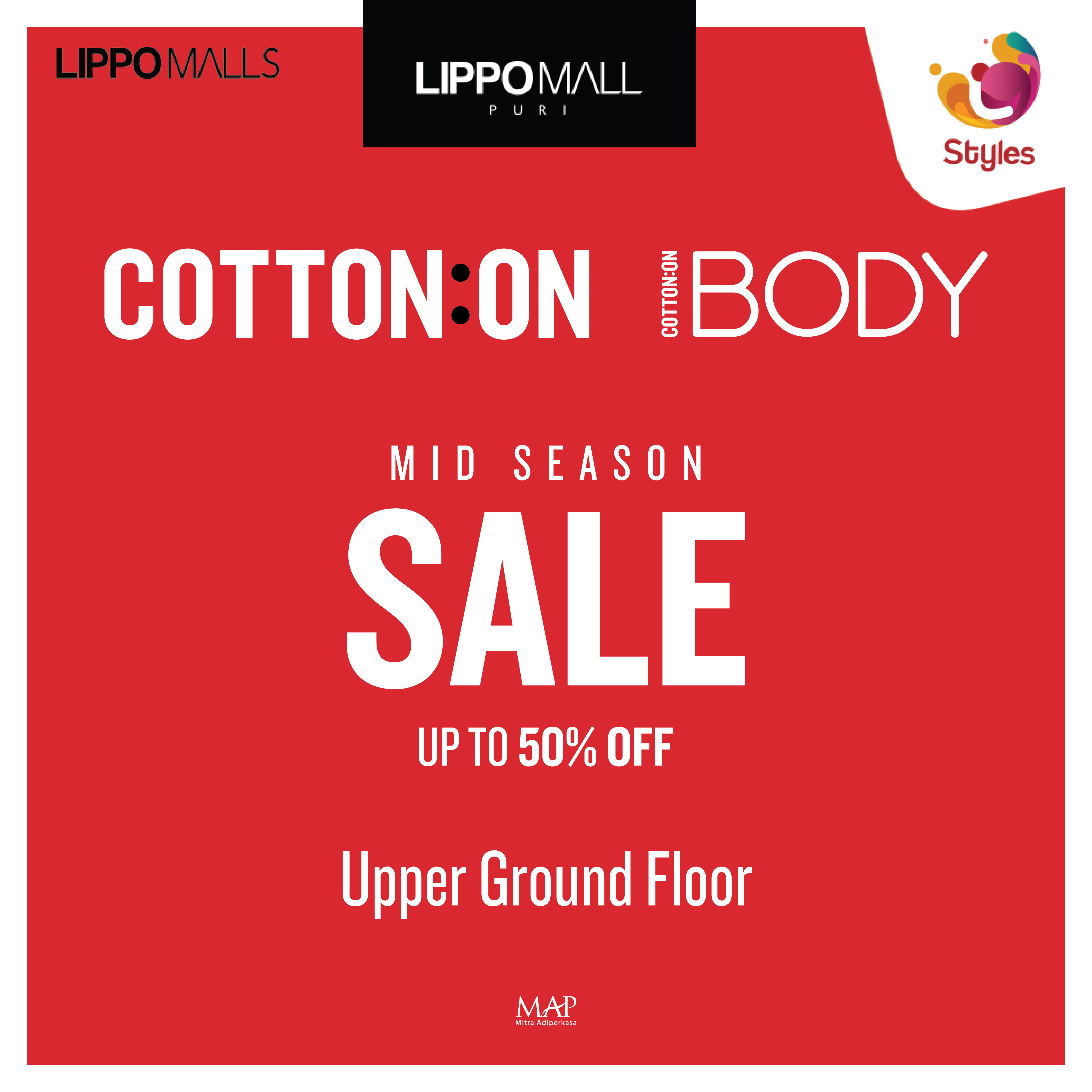 cotton on Promo in lippo mall puri st. moritz