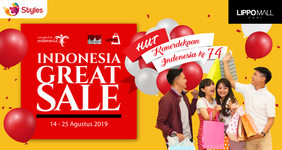 Indonesia Great Sale Promo in lippo mall puri st. moritz