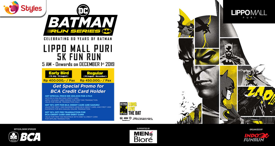 Batman Run Series Promo in lippo mall puri st. moritz